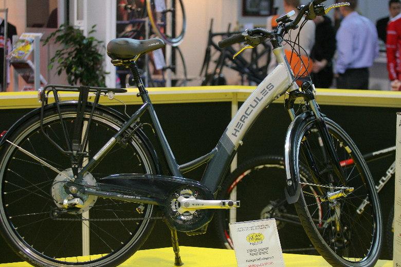 Sport Life 2008, předání cen Bike Brno Prestige, 6. 11. Brno - Hercules Sport SL Ebike - vítěz v kategorii Mobilita