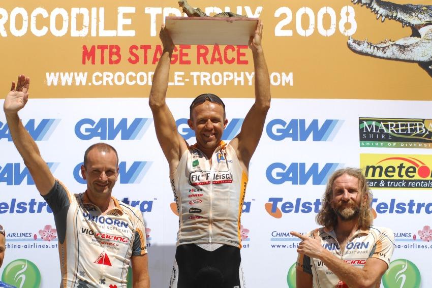 Crocodile Trophy 2008 - 10.etapa: Láďa Drda druhý a Jirka Kříž třetí v kat. Masters