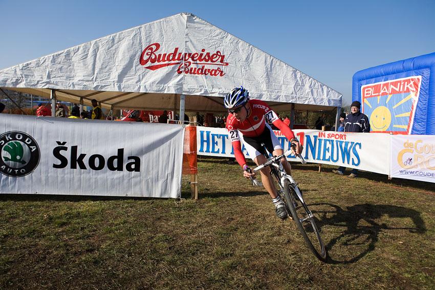 Světový pohár v cyklokrosu - Tábor 26.10.2008 - Philipp Walsleben (vítěz U23)