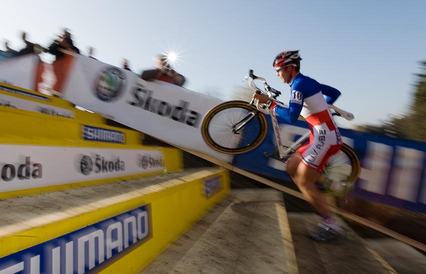 Světový pohár v cyklokrosu - Tábor 26.10.2008 - Aurelien Duval (2. místo U23)