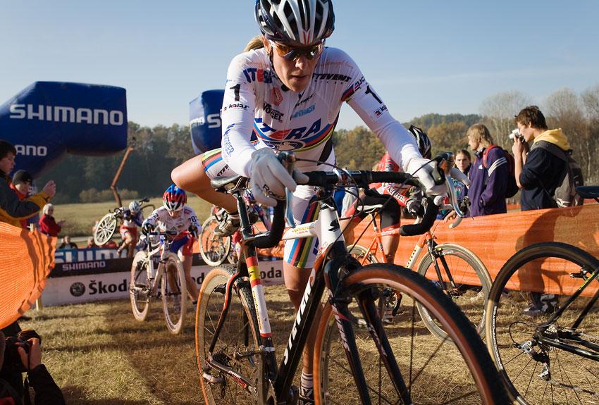 Sv�tov� poh�r v cyklokrosu - T�bor 26.10.2008 - Hanka Kupfernagel