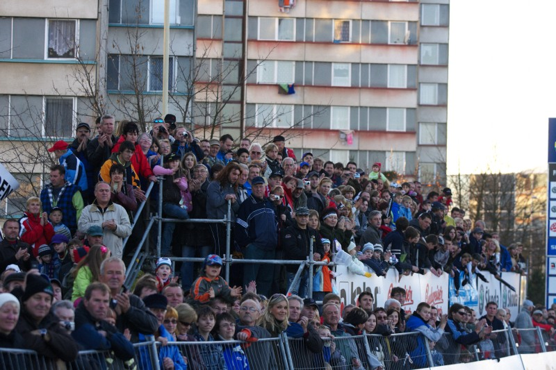 Světový pohár v cyklokrosu - Tábor 26.10.2008 - fanoušci v Táboře jsou cyklokrosu věrní
