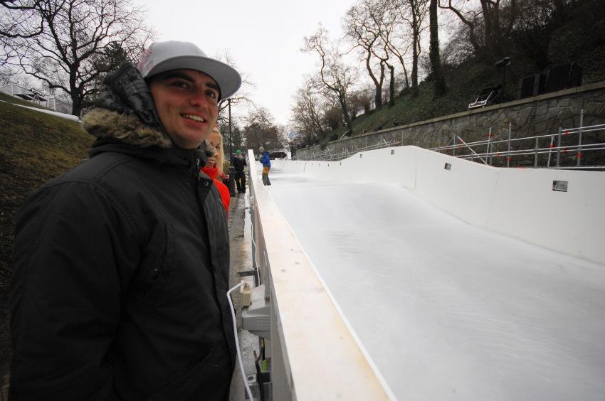 Red Bull Crashed Ice - Vyšehrad 2009: trať