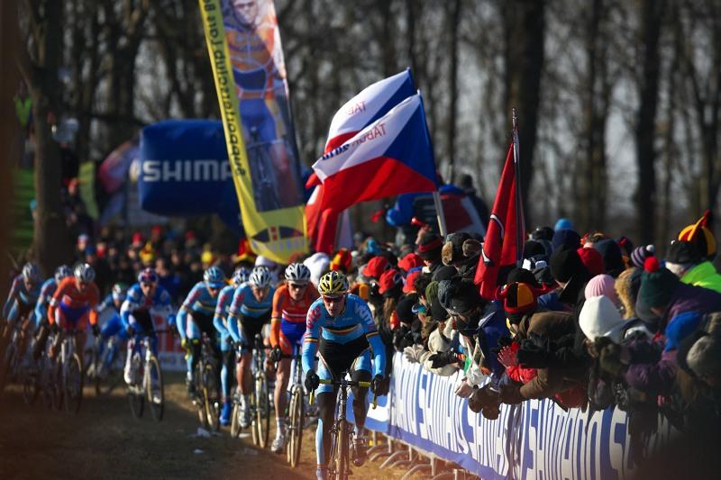Mistrovství světa Cyklokros, Hoogerheide/NIZ - 1.2. 2009 - první okruh závodu mužů