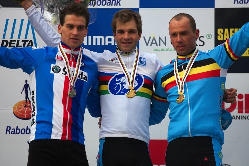 Mistrovství světa Cyklokros, Hoogerheide/NIZ - 1.2. 2009 - 1. Albert, 2. Štybar, 3. Nijs