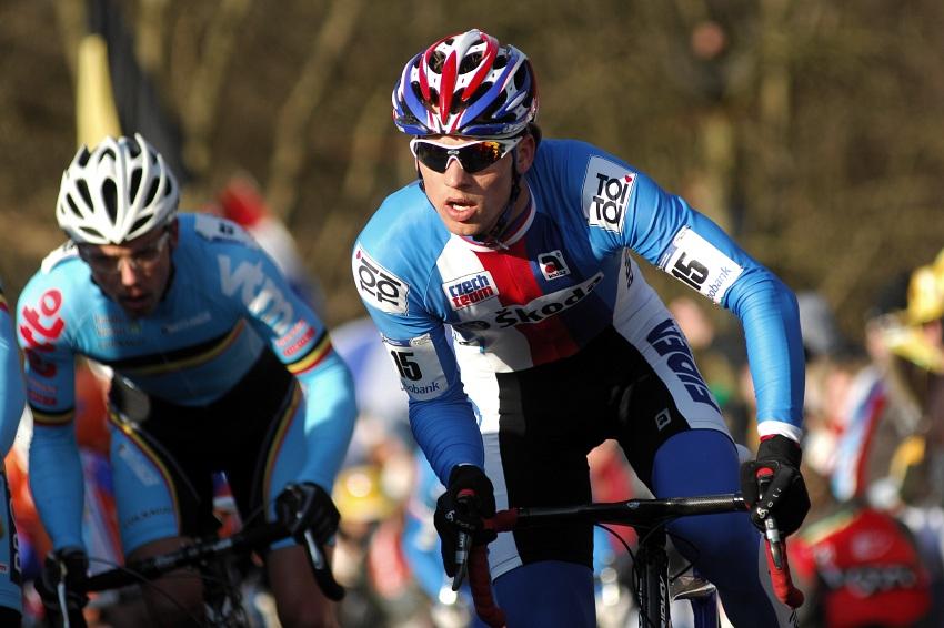 MS Cyklokros Hoogerheide /NED/ 2009 - Zdeněk Štybar nastupuje Nijsovi
