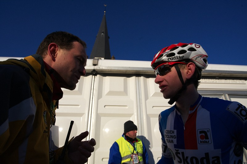 Mistrovství světa Cyklokros, Hoogerheide/NIZ - 31.1. 2009 - Ondra Bambula líčí své trable ze závodu
