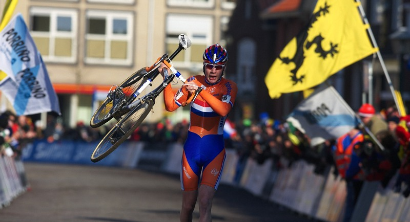 Mistrovstv� sv�ta Cyklokros, Hoogerheide/NIZ - 31.1. 2009 - junior Tijmen Eising