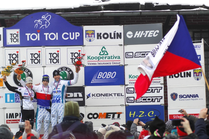 MČR Cyklokros 2009 - Kolín: 1. Štybar, 2. Šimůnek, 3. Dlask