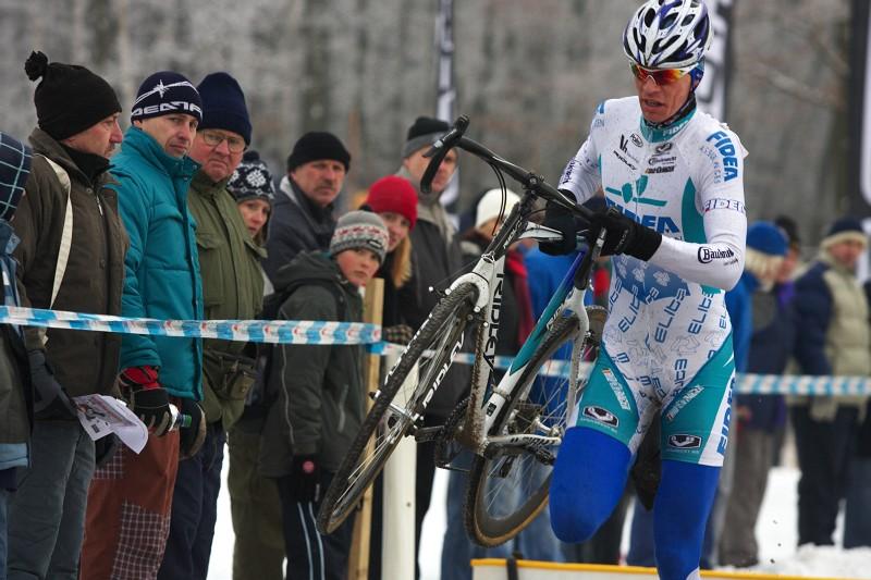 Mistrovství ČR cyklokros - Kolín 10.1. 2009 - Petr Dlask