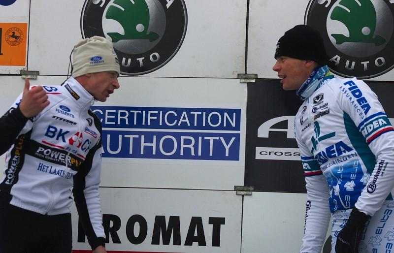 """Mistrovství ČR cyklokros - Kolín 10.1. 2009 - """"????"""" a on na to """"????!"""""""