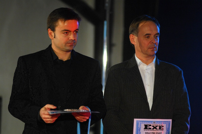 Finálový večer KPŽ '08: organizátoři Tomáš Hykl a Roman Čermák