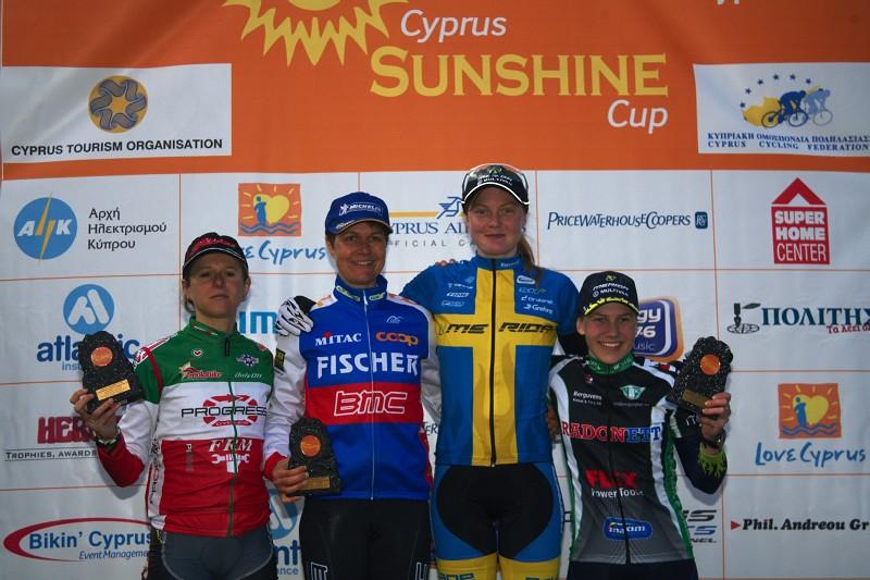 Sunshine Cup #2 - Afxentia Stage Race 2009, Kypr - Švédka Alexandra Engen tentokrát na stupínku nejvyšším