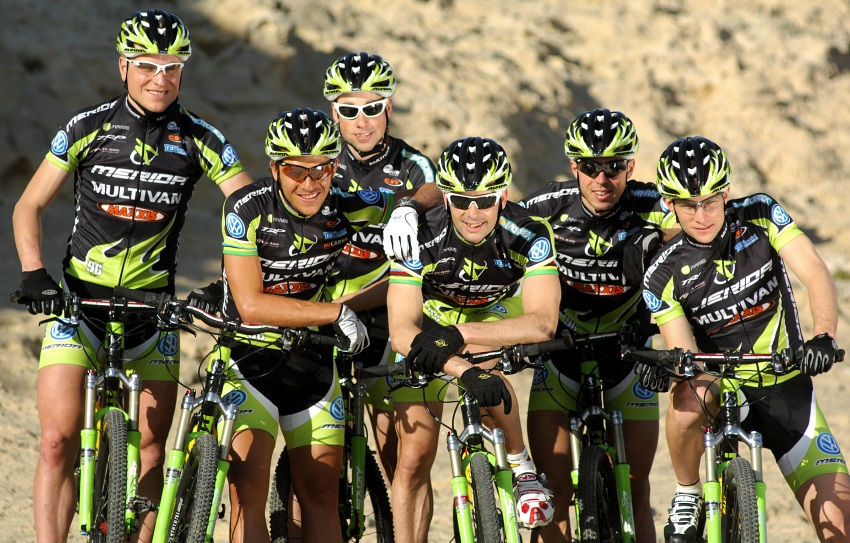 Multivan Merida Biking Team 2009: Hannes Genze, Ralph Naef, Rudi van Houts, Jose Antonio Hermida, Jochen Kass, Moritz Milatz