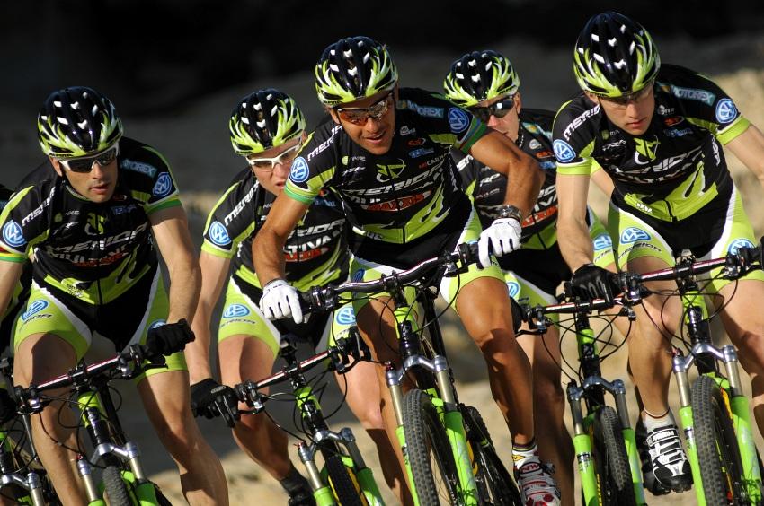 Multivan Merida Biking Team 2009: Jose Antonio Hermida, Hannes Genze, Ralph Naef, Jochen Kass, Moritz Milatz