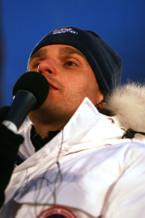 Red Bull Crashed Ice 2009 - Praha Vyšehrad: moderátor Leoš Mareš