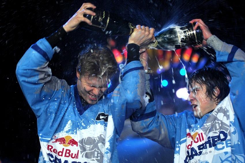 Red Bull Crashed Ice 2009 - Praha Vyšehrad: Jouhkimainen a Fiala