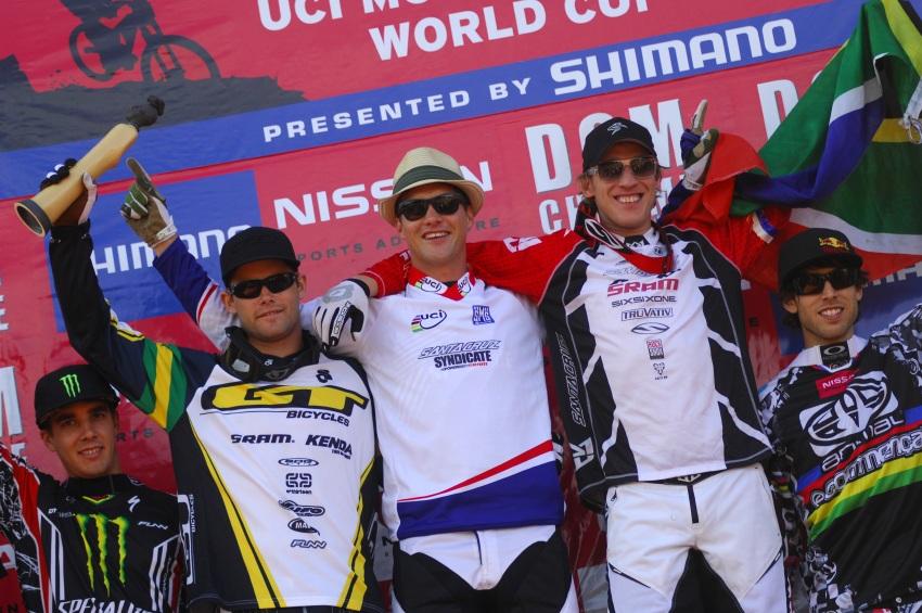 SP DH #1 2009 - Pietermaritzburg /RSA/: 1. Minnaar, 2. Hannah, 3. Peat, 4. Hill, 5. Gee Atherton