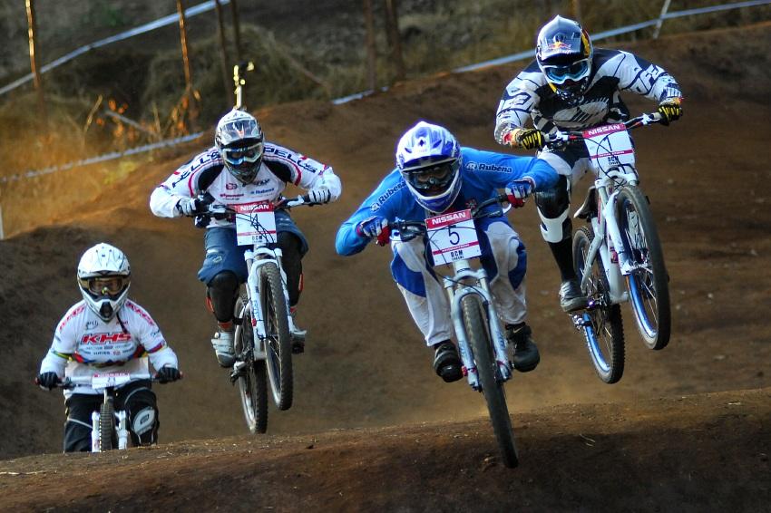 SP 4X #1 2009 - Pietermaritzburg /RSA/: Jana Horáková první, Kintner druhá, Romana Labounková třetí