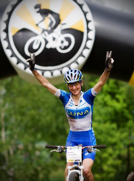 Maja Wloszczowska MTB Race - Jelenia Góra 9.5. 2009 - Catherine Pendrel s přehledem vítězí