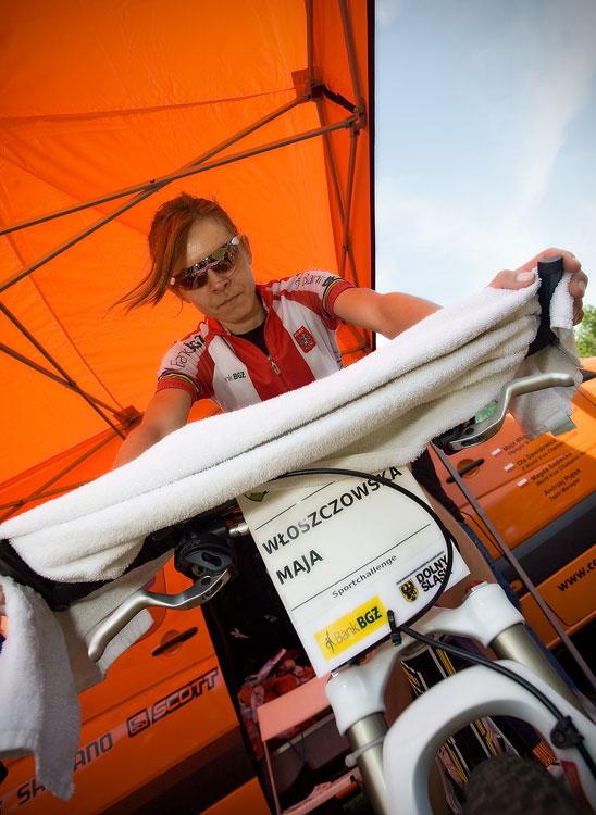 Maja Wloszczowska MTB Race - Jelenia Góra 9.5. 2009 - Maja Wloszczowska před startem