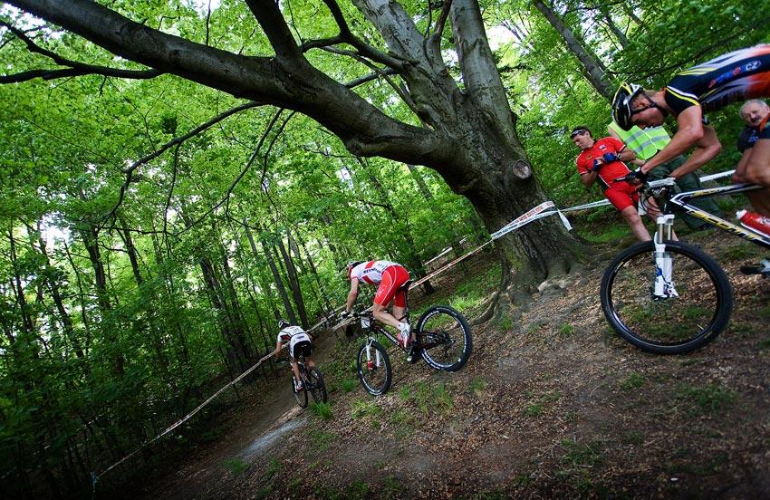 Maja Wloszczowska MTB Race - Jelenia Góra 9.5. 2009 - z kraje závodu: 1. Friedl 2. Galinski 3. Eberl
