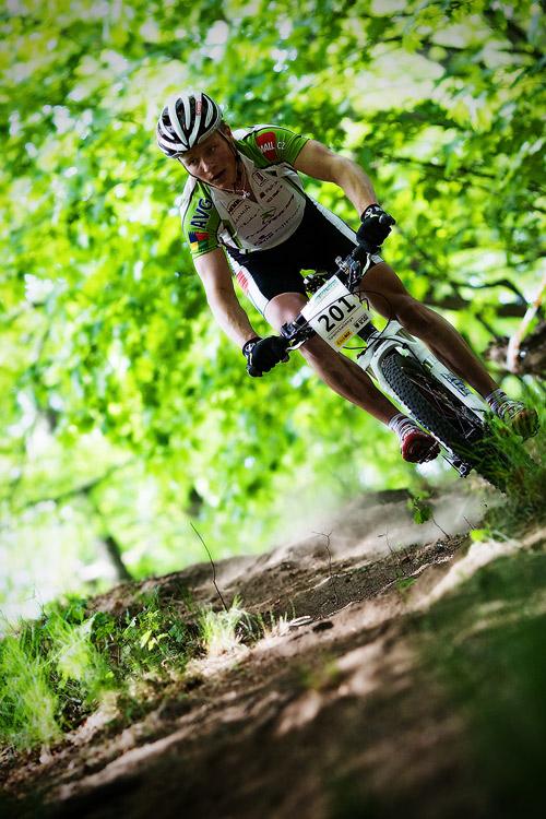 Maja Wloszczowska MTB Race - Jelenia Góra 9.5. 2009 - Jiří Friedl - sjezdy pod kontrolou