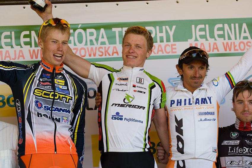 Maja Wloszczowska MTB Race - Jelenia Góra 9.5. 2009 - 1. Jiří Friedl 2. Filip Eberl 3. Miguel Martinez