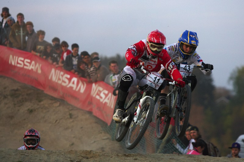 Nissan UCI MTB World Cup 4X #2 - Houfalize /BEL/ 1.-2. 5. 2009 - Jurg Meijer a Petr M�hlhans
