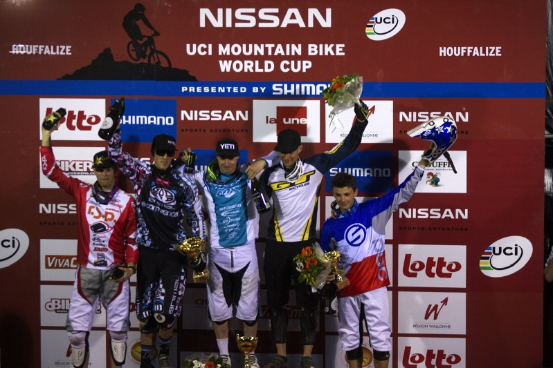Nissan UCI MTB World Cup 4X #2 - Houfalize /BEL/ 1.-2. 5. 2009 - 1. Graves, 2. Atherton, 3. Rinderknecht, 4. Wichman, 5. Saladini