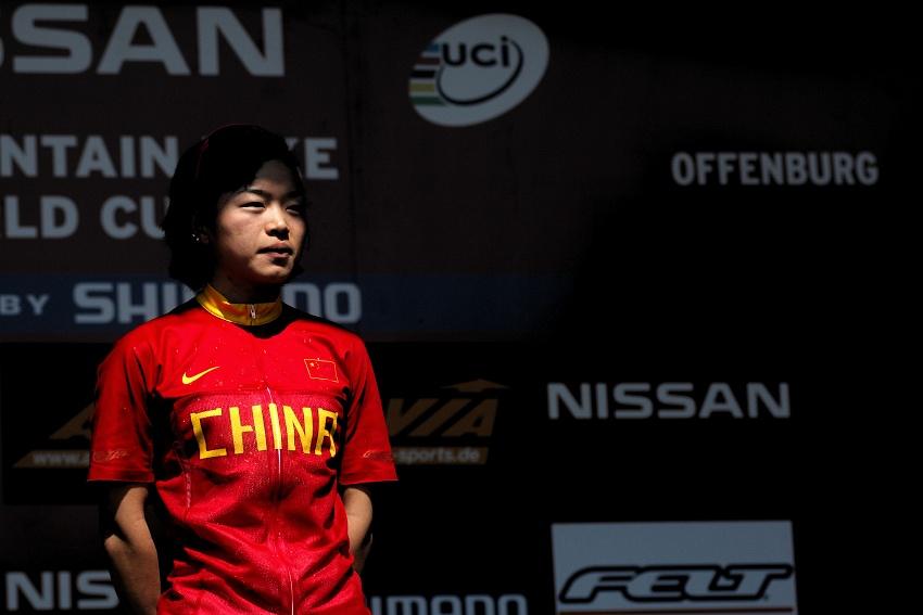 Nissan UCI World Cup #2 Offenburg /GER/ 26.4.2009 - Chengyuan Ren v pozoru