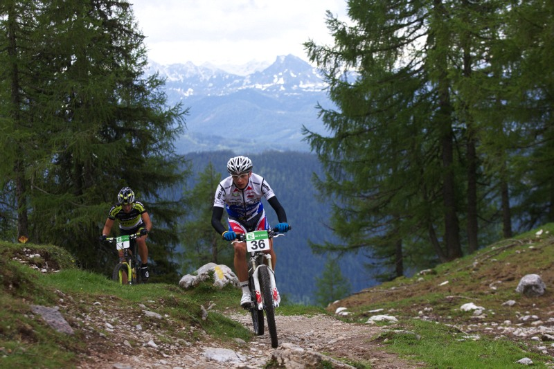 Alpentour Trophy, Schladming /AUT/ - 1. etapa, 29.5. 2009 - Tony Longo a Alban Lakata