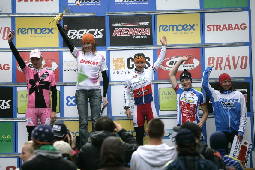 ČP MTB XC #2 Česká Kamenice 2009: ženy - 1. Němcová, 2. Havlíková, 3. Šulcová, 4. Veselá, 5. Ševčíková