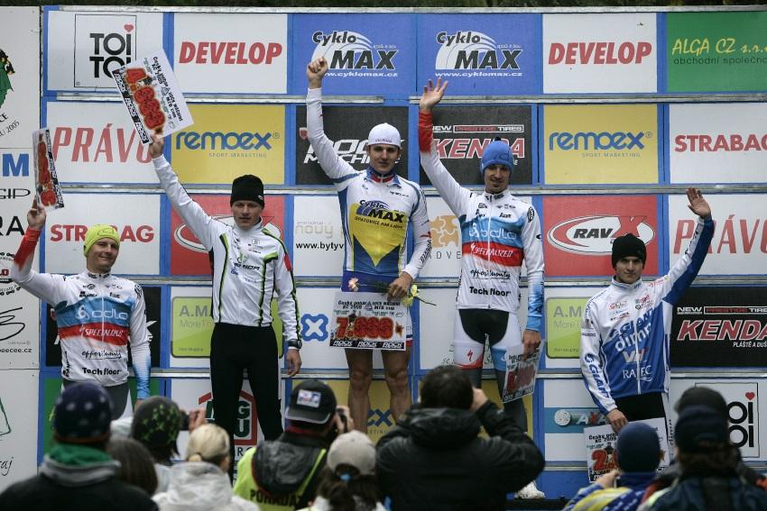 ČP MTB XC #2 Česká Kamenice 2009: Elite - 1. Kulhavý, 2. Novák, 3. Friedl, 4. Boudný, 5. Škarnitzl