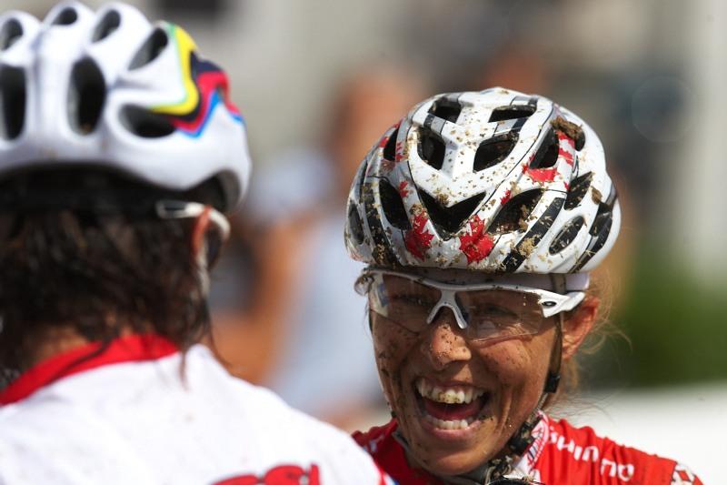 Nissan UCI MTB World Cup XC #4 - Madrid 24.5. 2009 - Marie Helene Premont měla v cíli radost i z druhého místa. Opět.