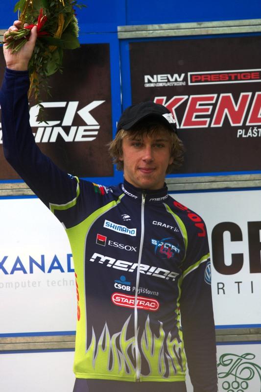 Český pohár Rock Machine XC MTB Cup 2009 - Bystřice pod Hostýnem 16.5. - jednou z mála novinek na letošním ČP je vyhlašování nejrychlejšího závodníka do 23 let, v Bystřici to byl Ondřej Cink, celkově