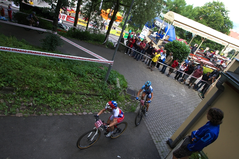 4. závod českého poháru Rockmachine XC Cupu, Teplice 20.6. 2009 - rychlý start Pavly Havlíkové