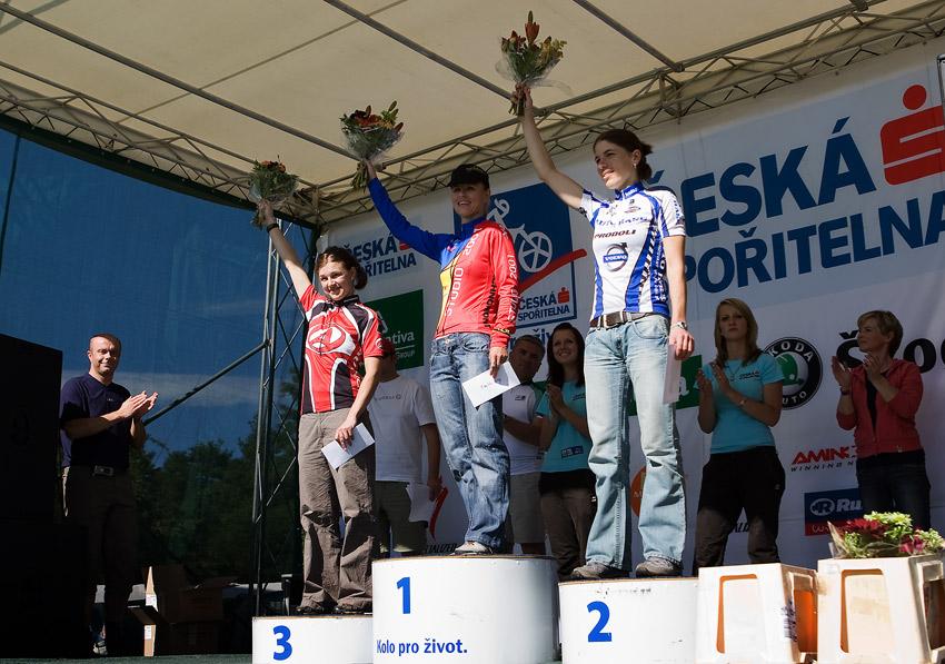 KPŽ Orlík 2009 - nejlepší ženy: 1.Radová 2.Kottová 3.Pěničková