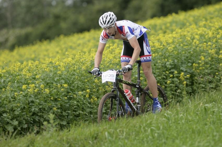 Giant Berounský BikeMaraton 2009: vítěz krátké trasy Michal Kohoutek