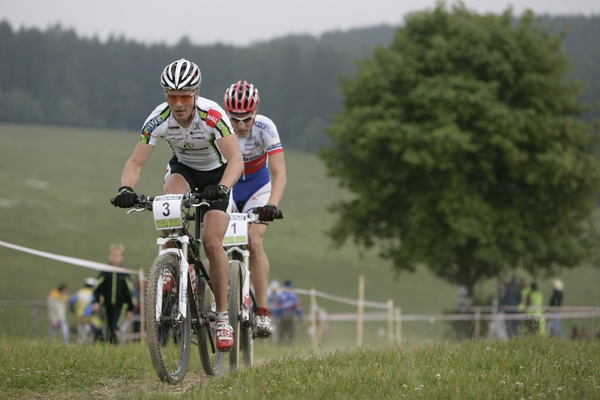 �P MTB XC #3 2009 - Okrouhl�: Friedl a Kulhav� na �ele v prvn�m kole