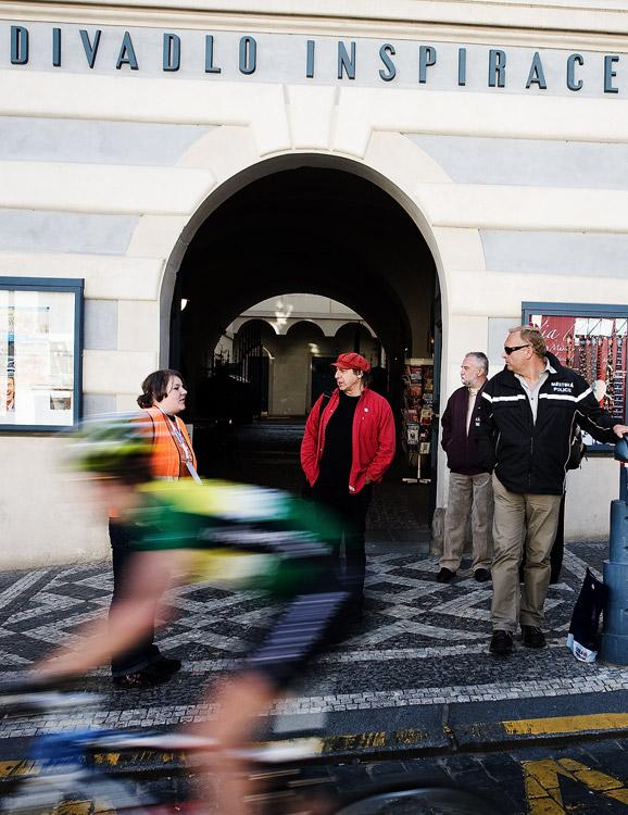 Pražské schody 2009 - závody zkouknul i mim Boris Hybner