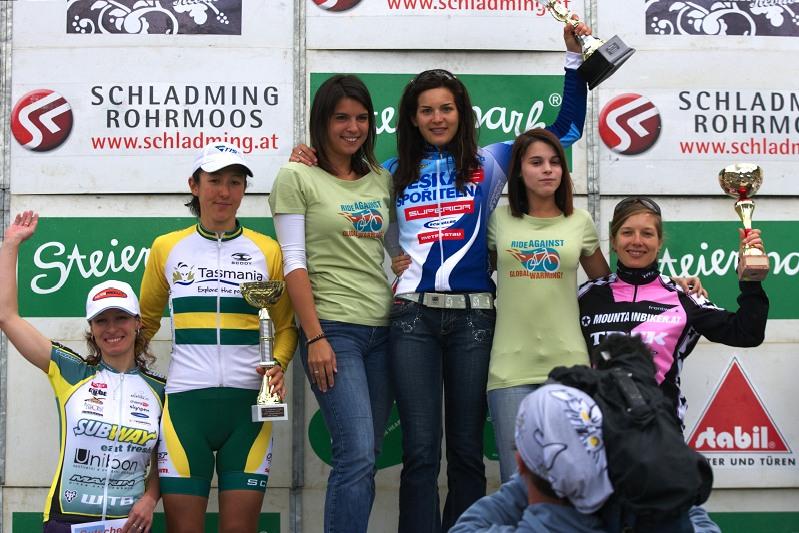 Alpentour Trophy, Schladming /AUT/ - 4. etapa 1.6. 2009 - 1. Hu��kov�, 2. Fry, 3. Duffner, 4. Krn��ov�