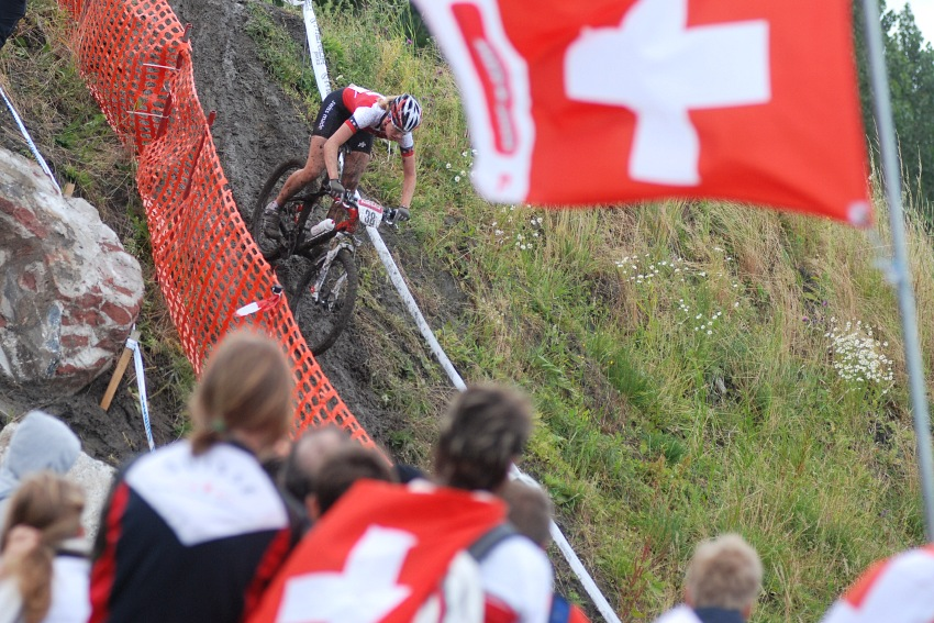 Mistrovství Evropy MTB XC 2009 - Zoetermeer /NED/ - juniorky & junioři: druhá Michelle Hediger