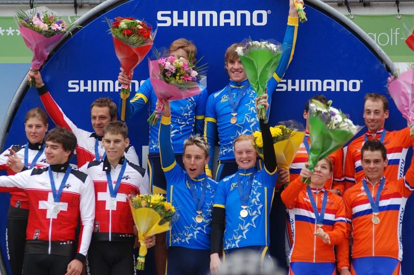 Mistrovství Evropy MTB XC 2009 - Zoetermeer /NED/ - týmové štafety: 1. Švédové, 2. Švýcaři, 3. Holanďané