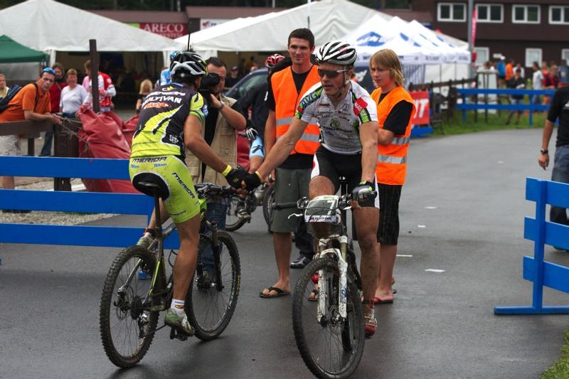 Merida Bike Vysočina 2009 - sprint - Hermida s Friedlem po malém finále
