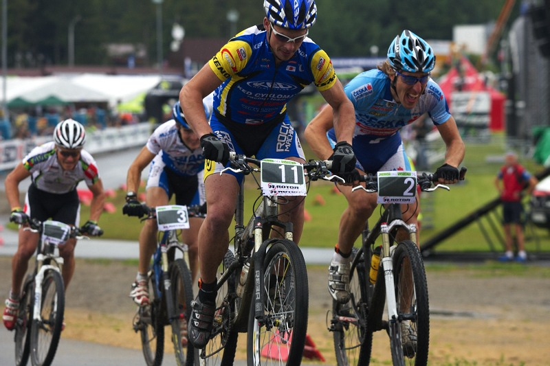 Merida Bike Vyso�ina 2009 - sprint - Franti�ek �il�k p�ekvapoval sprintersk�mi schopnostmi