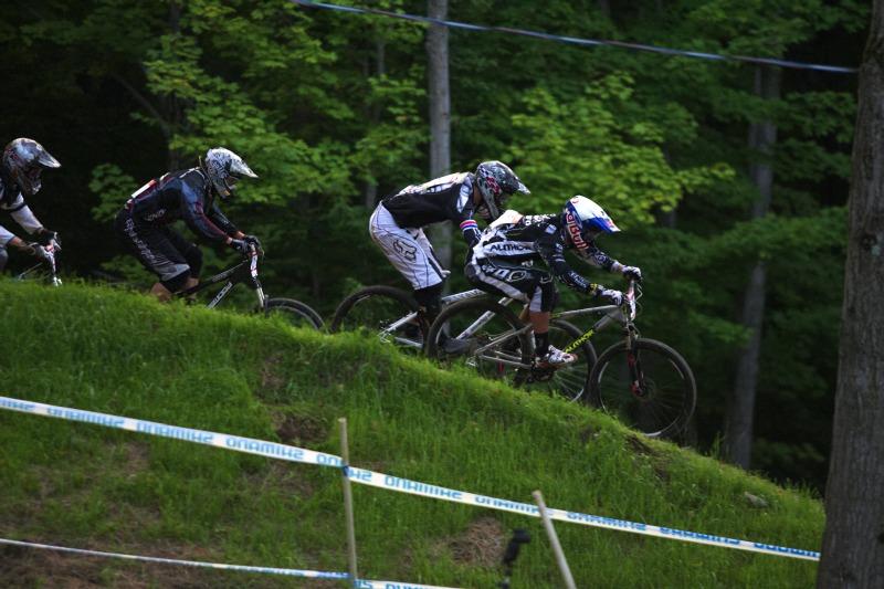 Nissan UCI MTB World Cup 4X/DH #7 - Bromont 1.8. 2009 - Michal Prokop let� vst��c �tvrtfin�lov�mu postupu