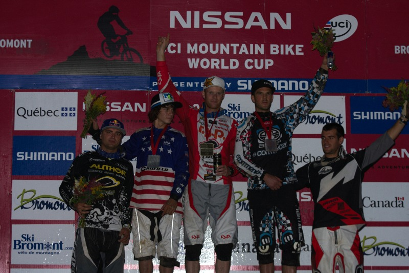 Nissan UCI MTB World Cup 4X/DH #7 - Bromont 1.8. 2009 - 1. Wichman, 2. Ropelato, 3. Atherton, 4. Prokop, 5. Derbier