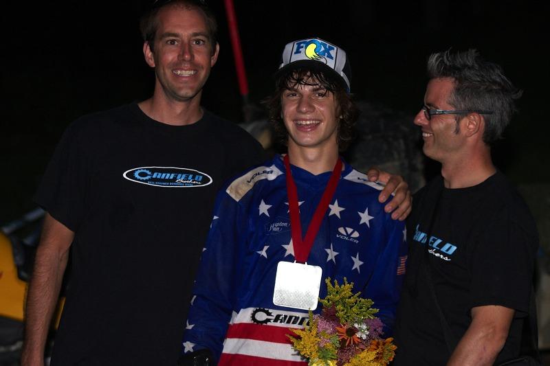 Nissan UCI MTB World Cup 4X/DH #7 - Bromont 1.8. 2009 - nadějný Mitch Ropelato v sedmnácti letech získal stříbro