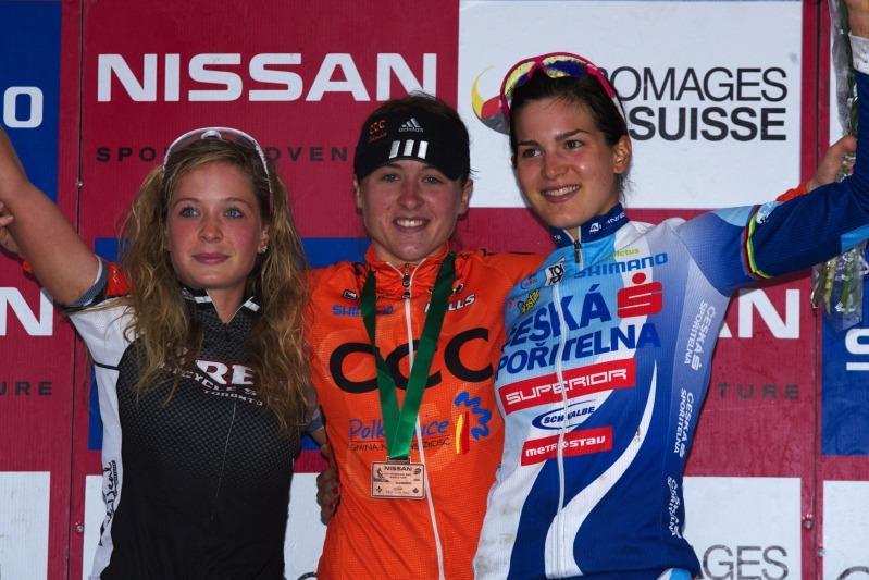 Nissan UCI MTB World Cup XC #5 - Mont St. Anne /KAN/ 26.7.2009 - U23: 1. Dawidowicz, 2. Batty, 3. Huříková